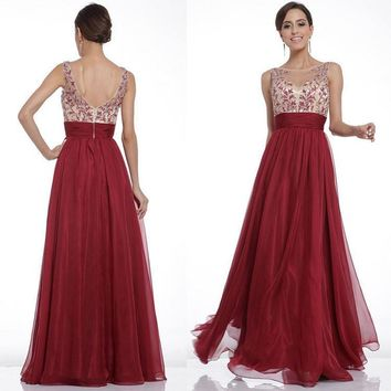 Fashion Prom Dress Ladies Sexy Sleeveless Backless Maxi Dress Formal Evening Party Date Cocktail Ball Gown Dress Bridesmaid Dress = 5841923905