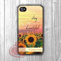 Sunflower field sparkling with quote personalized custom-lks for iPhone 4/4S/5/5S/5C/6/ 6+,samsung S3/S4/S5,samsung note 3/4