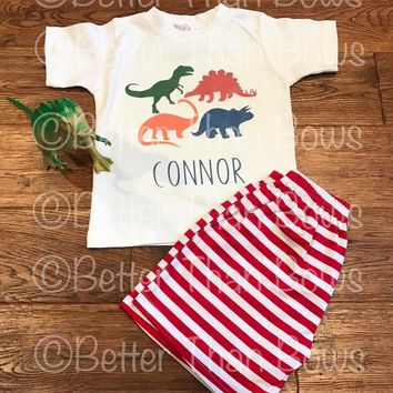 Boys Personalized Dino Short Outfit Semi RTS