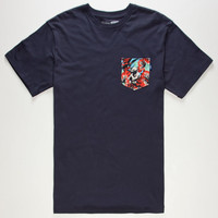 Vans Star Wars Yoda Mens Pocket Tee Navy  In Sizes