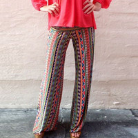 Tribal Print Yoga Pants