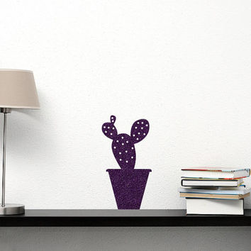 Cactus Plant Wall Decal - Cactus Decor - Window Decal - Kitchen Decor