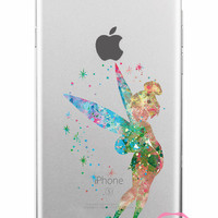 Tinkerbell Disney Clear Soft iPhone Case 5,5s,SE,6,6S,6+,7,7+