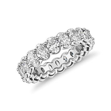 A Flawless 5.25TCW Oval Cut Belgium Lab Diamond Full Eternity Ring