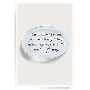 Our Memories Of The Ocean Crystal Oval Paperweight