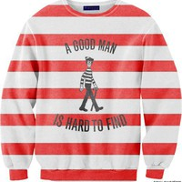 WHERE'S WALDO CREW NECK