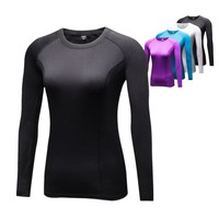 Women's T shirt Compression Quick Dry Long Sleeve