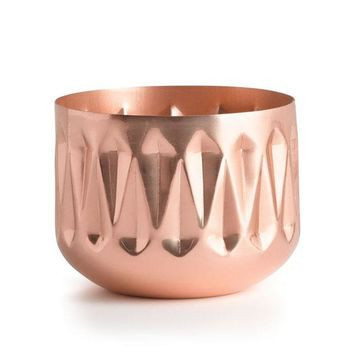Illume Medium Radiant Metal Candle - Woodfire