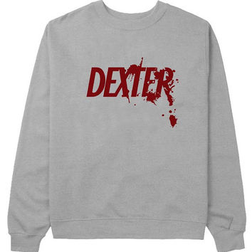 dexter sweater Gray Sweatshirt Crewneck Men or Women for Unisex Size with variant colour