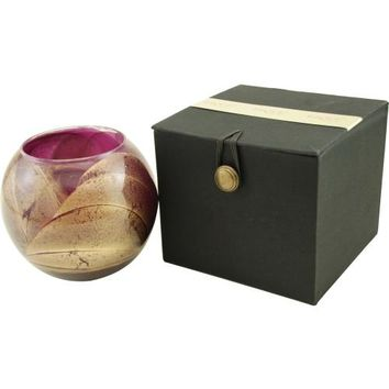 AMETHYST CANDLE GLOBE by AMETHYST CANDLE GLOBE THE INSIDE OF THIS 4 inch POLISHED GLOBE IS PAINTED WITH WAX TO CREATE SWIRLS OF GOLD AND RICH HUES AND COMES IN A SATIN COVERED GIFT BOX. CANDLE IS FILLED WITH A TRANSLUCENT WAX AND SCENTED WITH MYSTERIA. BU