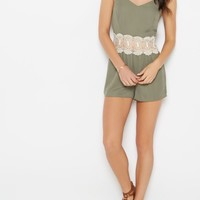 Olive Crochet Medallion Romper | Jumpsuits & Rompers | rue21