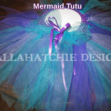 Mermaid Tutu, Ariel Tutu Princess Tutu Birthday Tutu Infant Toddlers Tutu Tulle Tutu Purple Tutu
