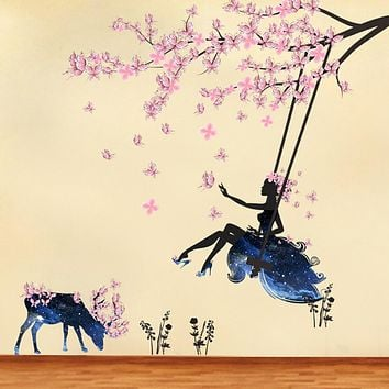Decorative Wall Stickers - Plane Wall Stickers Fairies Living Room / Bedroom