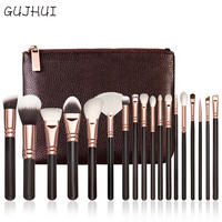 Hot Best Deal 18 pcs Rose Gold Makeup Brush Complete Eye Set Tools Powder Blending Brush Beauty Girl Nov.17