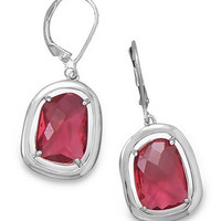 Abstract Ruby Glass Earrings