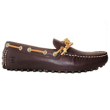 ESBONIG Sperry Top-Sider Hamilton Driver - Brown Leather Driving Moc