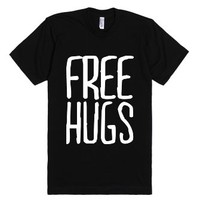 Free Hugs (Dark)-Unisex Black T-Shirt