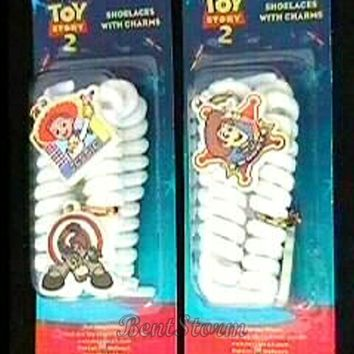 Licensed cool NEW Disney Toy Story 2  Shoelaces Shoe Lace Bullseye Cowgirl Jessie Cowboy Woody