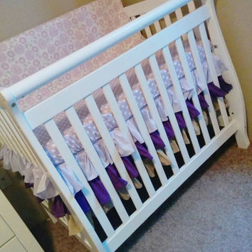 Three Tiered Crib Skirt, Ruffled Crib Skirt