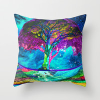 Tree of Life Meditation Throw Pillow by TreeofLifeShop | Society6