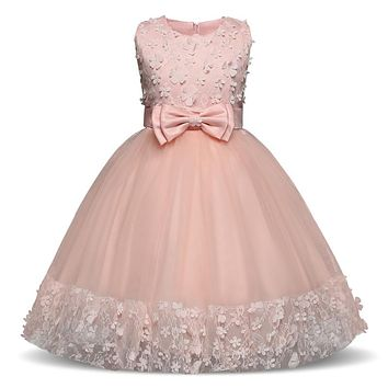 Girls Dress Pink Party Sleeveless Princess Dresses Kids Clothes Christmas Birthday Wedding Dress Tutu Dresses For Girls Costume