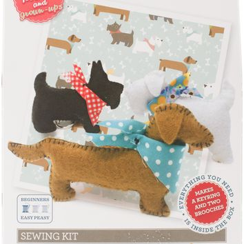 The Crafty Kit Co. Sewing Kit-3 Felt Puppies