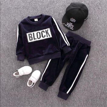 New Arrival Children's Sportswear Loose Casual Wear 3 Colors F Two-piece Suit