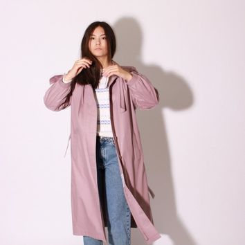 Lilac Trench Coat / S M