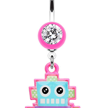 Lillibot Robot Belly Button Ring