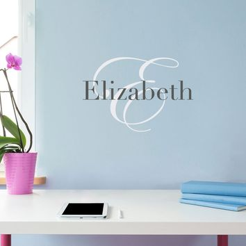 Initial & Name Wall Decal - Girls Name Decal - Initial Wall Sticker - Small (2)