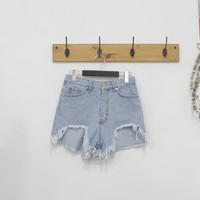 Deep Crush Denim Shorts