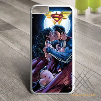 Superman and wonder woman romantic Custom case for iPhone, iPod and iPad