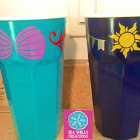 Disney Inspired Tumblers, Tangled, Little Mermaid, Lion King, Mad Hatter, Personalized Disney Tumbler