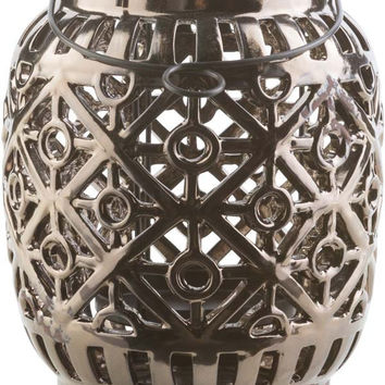 Killian Contemporary Black, Olive Color Lantern - Home Decor | Surya