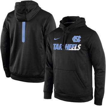 Nike North Carolina Tar Heels Black 2015 Sideline KO Fleece Therma-FIT Performance Hoodie