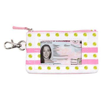 SCOUT IDKase Card Holder or Wallet ID Holder Window Key Clasp Water Resistant Zips Closed