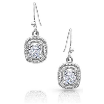 Montana Silversmith ~ Squarely Brilliant Wrapped Earrings