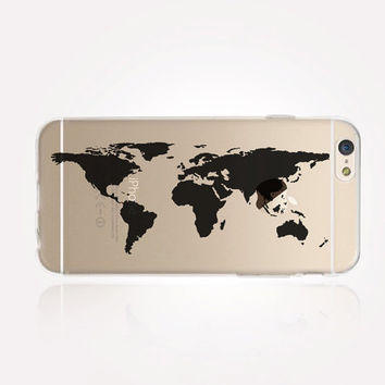 Transparent world map iphone case from crcases on etsy transparent world map iphone case transparent case clear case transparent iphone gumiabroncs Choice Image