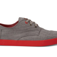 Chambray Grey and Red Pop Men's Paseos