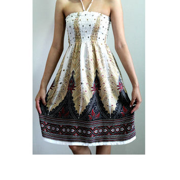 2 in 1 Women Elephant Harem skirt/Jumpsuit/Trouser Strapless/Dress Aladdin skirt/Baggy skirt Genie skirt Comfy Clothing-White color