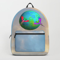 Gaia | Planet Earth into a New Dimension #society6 Backpacks by Azima