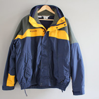 Columbia Jacket 2 in 1 Jacket Columbia Fleece Jacket Bugaboo Parka Columbia Windbreaker Hiking Outdoors Vintage 90s Size M - L #O102A