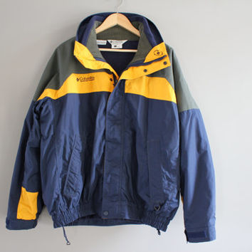 2 in 1 Columbia Jacket Columbia Fleece Jacket Bugaboo Parka Columbia Windbreaker Hiking Mountain Outdoors Vintage 90s Size M - L #102A