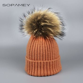 Fashion Girl Skullies Beanies Winter Hats for Children Knitting Cap Hat Pompoms Ball Warm Brand Casual Gorros Thick Female Cap