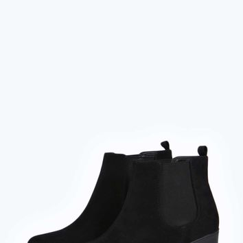 Erin Low Cleated Suedette Boot