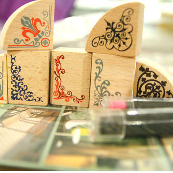Maple wood edge stamp set