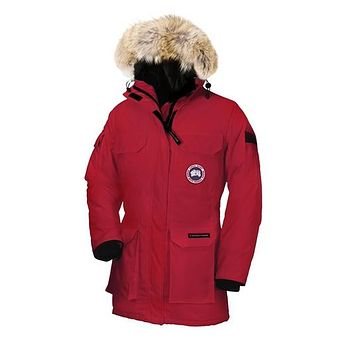 canada goose Women's Expedition black Red beige