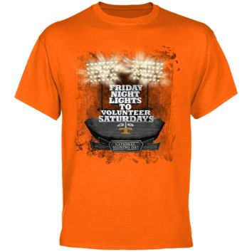 Tennessee Volunteers Tennessee Orange National Signing Day All The Lights T-shirt