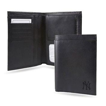 New York NY Yankees RFID Blocking Traveling Passport Leather Wallet