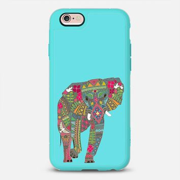 painted elephant turquoise blue iPhone 6s case by Sharon Turner | Casetify